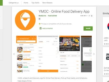 YMOC - Online Food Delivery App