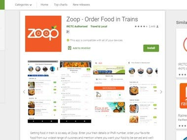 Zoop - Order Food in Trains