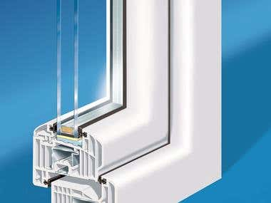 mechanical transparent cutaway