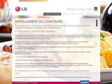 LG Cooks Website HTML and FLASH AS3