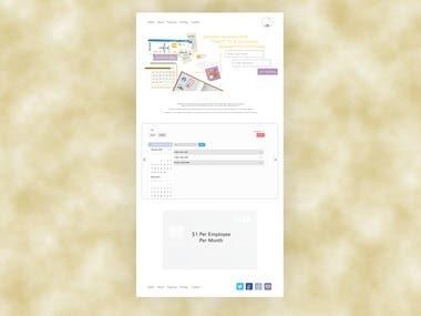 Timeoff Landing Page Design
