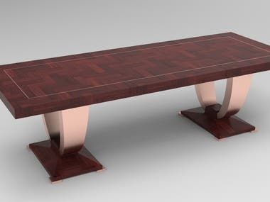 Furniture design and render