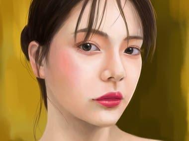 Women portrait digital painting