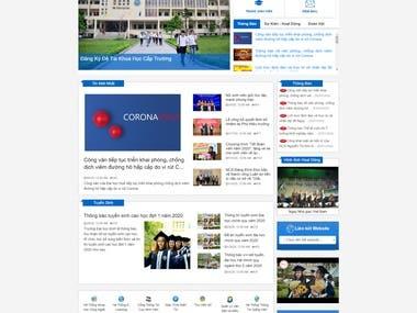 Hue Economic University Website
