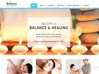 Balance and healing website