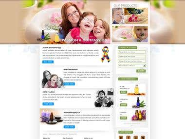Autistic Aroma Therapy Website Redesign