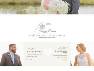 Laravel Wedding Site.