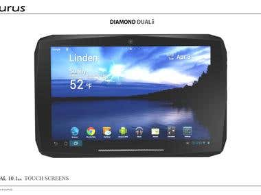 AURUS Tablet Diamond Dual 10.1
