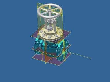 My project design of Globe valve
