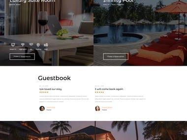 Hotel booking website ( Laravel + React.js )
