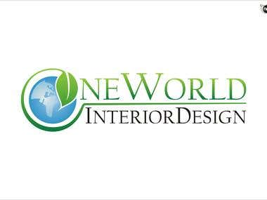 One World Interior Design logo winning entry