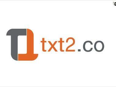 Text2.co  logo winning design