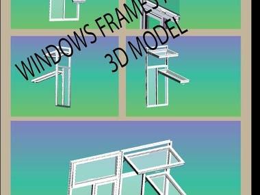 3D MODEL OF WINDOW ASSEMBLY