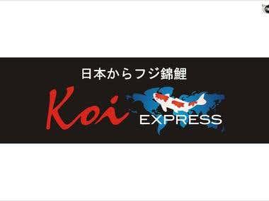 Koi Express logo winning design
