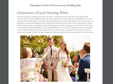 Choosing a Color to Wear on your Wedding Day
