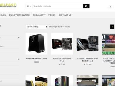 E-commerce website for PC Belfast
