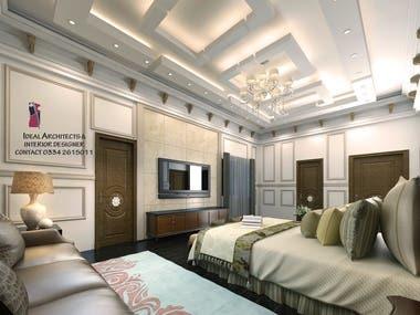 Interior 3d view Render Modern & Arabic Villa