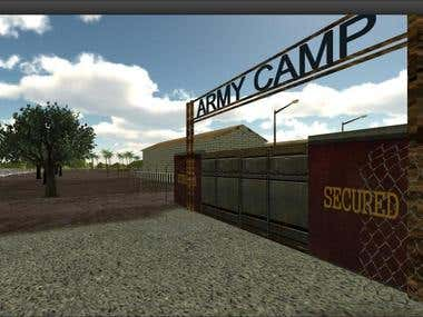 Military Gate - Unity 3D
