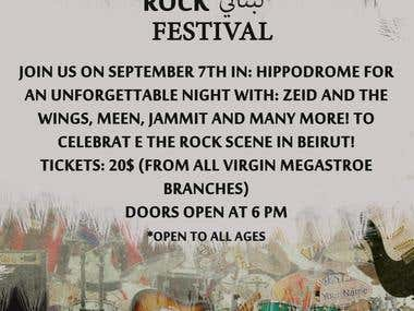 Rock Festival Event Poster