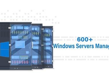 600+ windows servers managed
