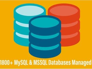 1800+ Mysql and MSSQL database servers managed
