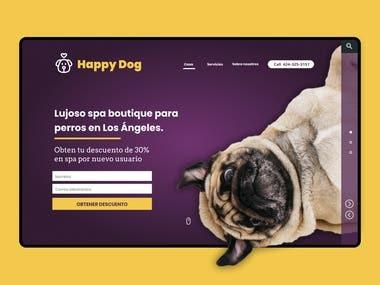 UI / UX dogs web design