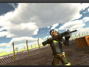 Soldier in Action - 3Ds Max and Unity 3D