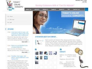 Todays Online Concept