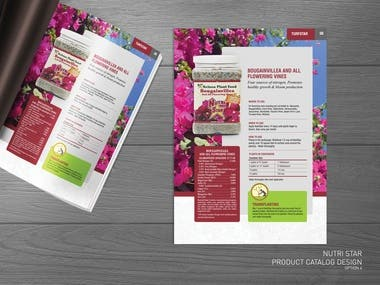 Retail product catalog Brochure