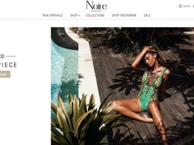 Magento swimwear ecommerce Noire-swimwear.com