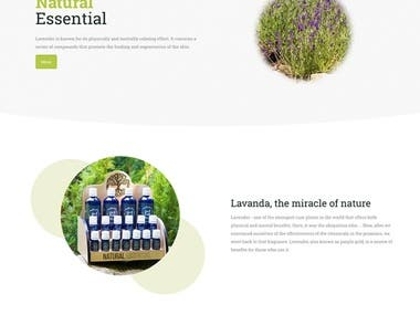 Lavender products presentation website Naturalessential.ro