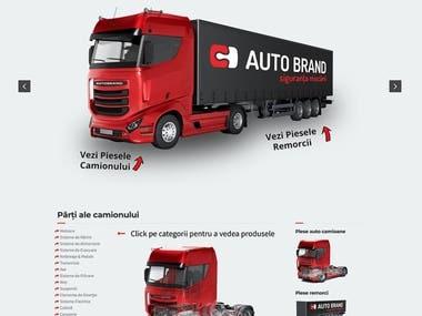 Trucks presentation website- Autobrand.ro
