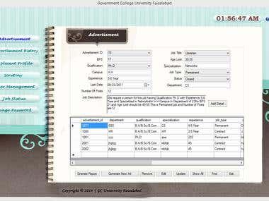 Desktop Application ( E- Recruitment Management System)