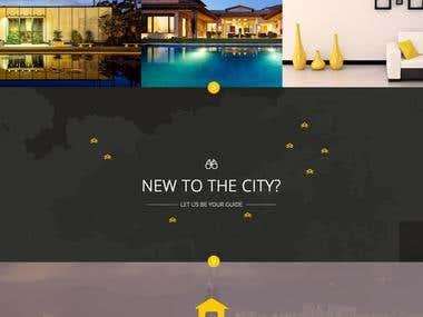 Real estate website landing page design