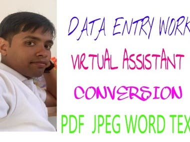 AN IDEAL VIRTUAL ASSISTANT AND DATA ENTRY OPERATOR