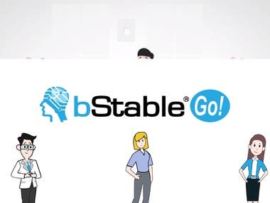 Bstable colorful whiteboard video