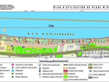 Land Use Plans for M'diq-Fnideq Beaches