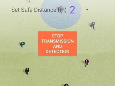 Safe Corona Distance App