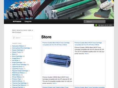 Printer Ink Shopping Website