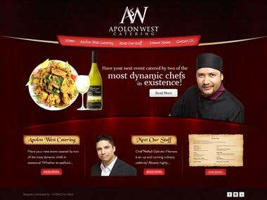 Apolon West Catering Website