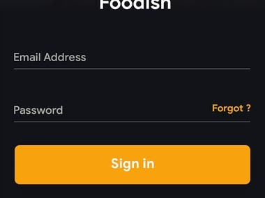 foodish the food delovery and restaurent app
