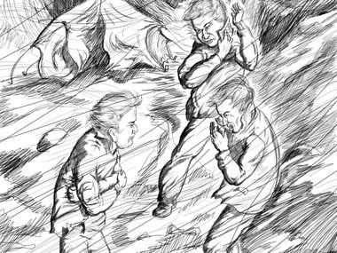 Black&white illustration