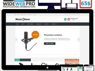 Music Store Prestashop 1.5.x Responsive-Theme