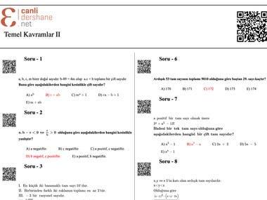 MathML ile PDF Export