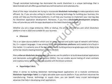 Comprehensive List of Blockchain Platforms