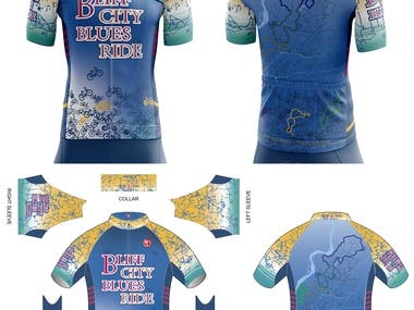 Design cycling jersey and apparels