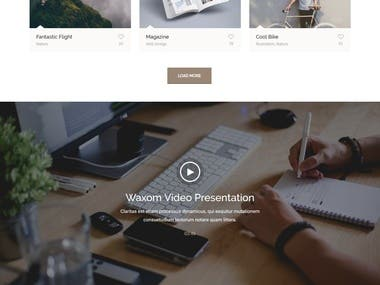 Waxom - Clean & Universal HTML Theme