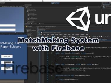 Unity Match Making System using Firebase