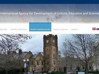 Website for international scientific agencies