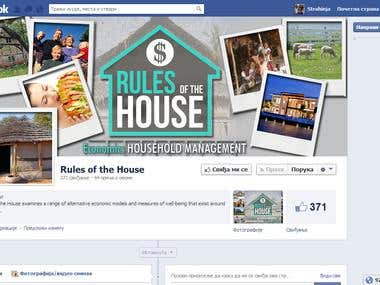 Rules Of The House - Facebook page design
